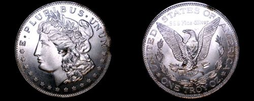 Morgan Dollar 1 Oz .999 Silver Round