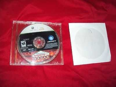 RAINBOW SIX VEGAS XBOX 360 DISC & CD CASE VERY GOOD SHIPS SAME DAY OR NEXT