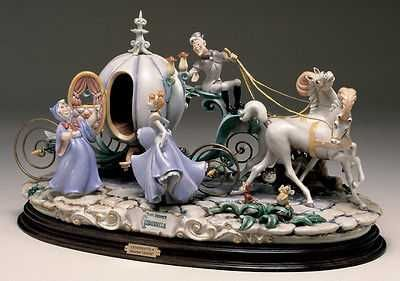 Disney Cinderella with Coach Capodimonte Laurenz C.O.A. Original Box