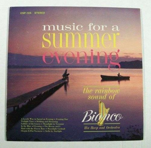 BIANCO / His Harp and Orchestra ~ Music For A Summer Evening 1963 Pop LP