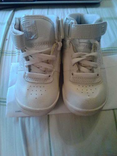 White on White high top Fila baby/toddler size 7