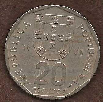Portugal 20 Escudos 1986 Coin