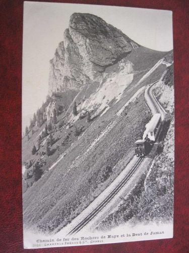 ROCHERS DE NAYE MOUNTAIN TRAIN OLD POSTCARD (#79)