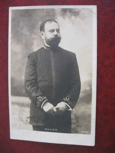 SOUSA COMPOSER AND MUSICIAN REAL PHOTO OLD POSTCARD (#152)