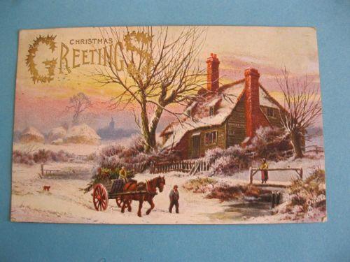 CLASSIC TUCK CHRISTMAS OLD POSTCARD 1906 (#282)