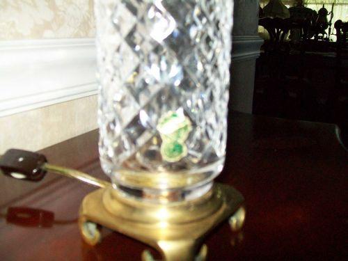 WATERFORD CRYSTAL BEDROOM LAMP DIAMOND PATTERN 1940s/50s - $135 (saint petersburg)