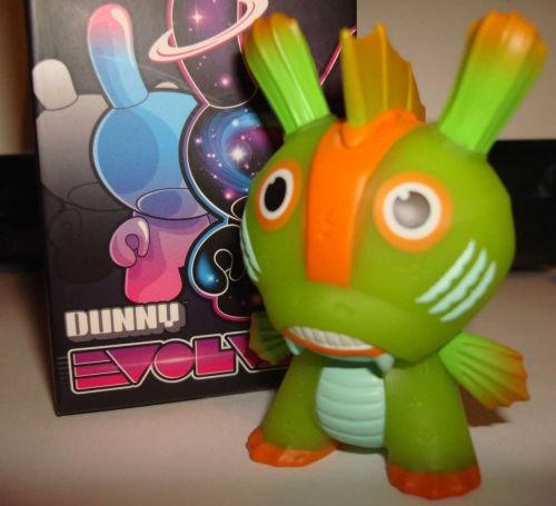 "Kidrobot Dunny 3"" 2013 Evolved Kozik Fish Man Chase Stage 3 Vinyl Figure Art Toy"
