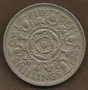Great Britain (England) Two Shillings 1963