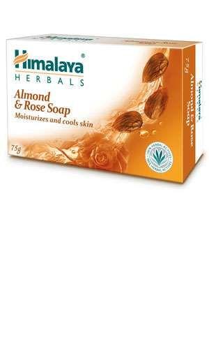 5 Peice Himalaya Almond & Rose Soap 75 Gram Each Total 375 Gram