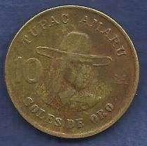 Peru 10 Soles De Oro 1978 Coin