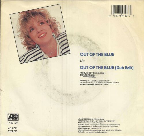 Debbie Gibson - 45 Record Out of the Blue in Original Sleeve!