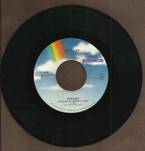"""Tiffany - 45 Record """"Think we're Alone Now"""" in Original Sleeve!"""