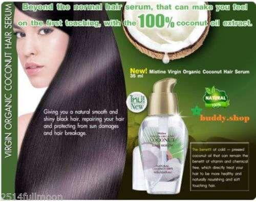 35ml. Mistine Virgin Organic Coconut Hair Serum