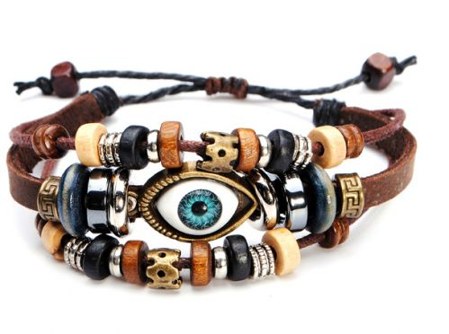 eyeball genuine leather bracelet