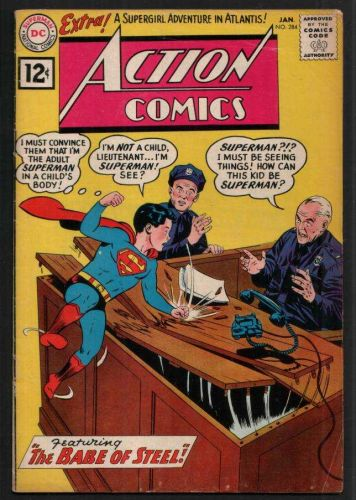 ACTION COMICS 284 JANUARY 1962 - FINE CONDITION - SUPERGIRL STORY.....MON-EL