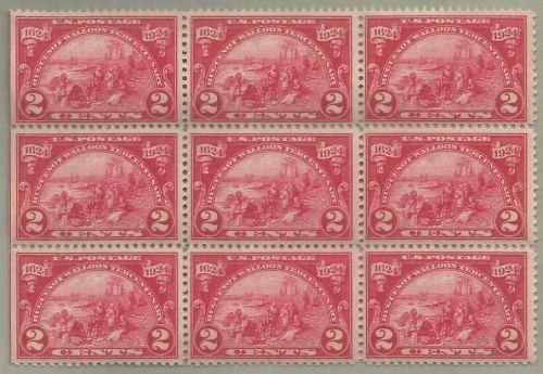 United States Scott Stamp #615, block of 9, from 1924
