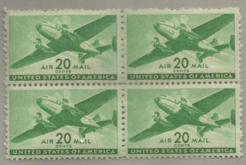 United States Scott Stamps #C29, block of 4, from 1941