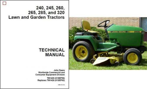 John Deere 240 245 260 265 285    320    Lawn Garden Tractor