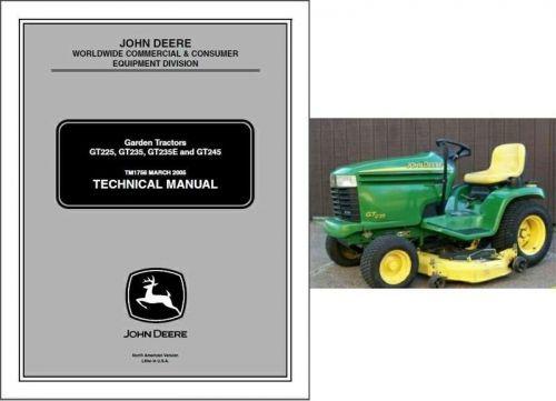 john deere gt225 gt235 gt235e gt245 lawn garden tractor service rh unisquare com LX188 John Deere Tractor John Deere Lawn Tractors