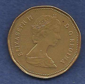 Canadian One (1) Dollar 1989 Loon Dollar 2