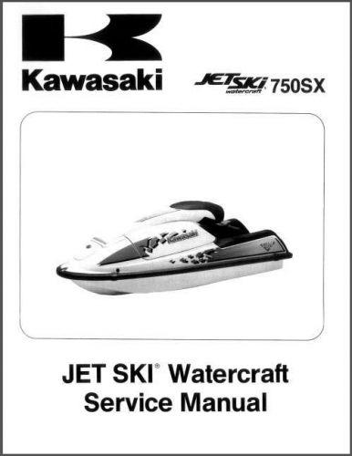 92-95 Kawasaki 750SX Jet Ski Service Repair Manual CD - JetSki 750 SX