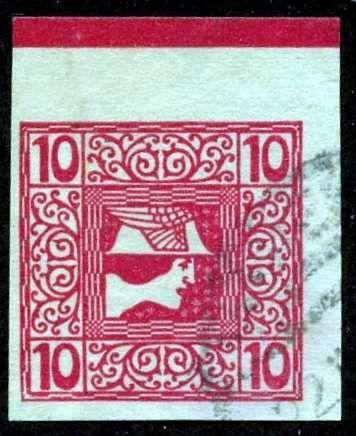 Austria 1908, Z eitungsmarke, Randliste, ANK 2015, #159z, Used