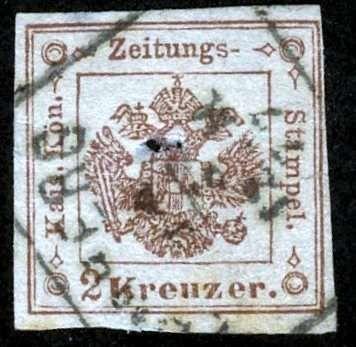 Austria-Zeitungsmarke 1877, ANK 2015, # 6, Type Ia, Used