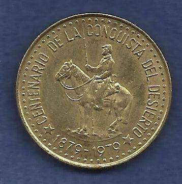 Argentina 50 Pesos 1979 100th Anniversary Conquest of Patagonia!! Beautiful !