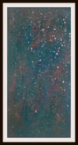 "Original Encaustic Acrylic Painting Clear Resin 12"" x 24"""