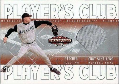 2002 Upper Deck Ballpark Idols Player's Club Jerseys CS Curt Schilling Jsy