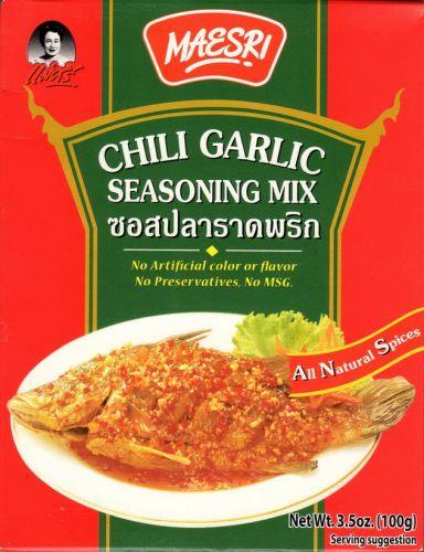 Maesri Chili Garlic Seasoning Mix Authentic Thai Cuisine Free Ship w/ Tracking