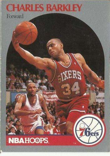 1990-91 NBA Hoops Charles Barkley Card - Philadelphia 76ers