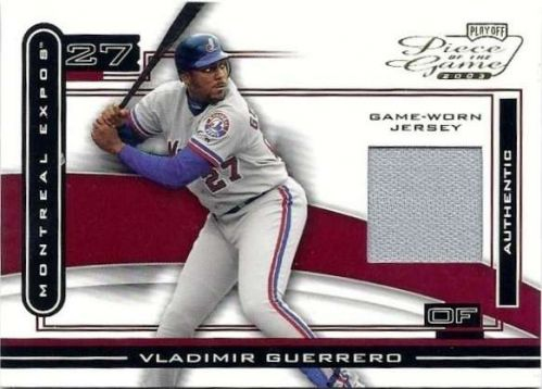 Vladimir Guerrero 2003 Playoff Piece Of The Game Jersey Card # POG-100