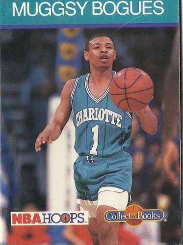 1990-91 NBA Hoops Collect-a-Books Muggsy Bogues - Charlotte Hornets