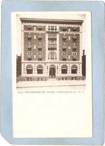 New York Gloversville Kingsborough Hotel Street Scene ny_box5~1986