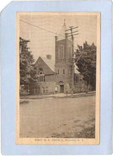 New York Wellsville First M E Church Street Street Scene Intersection ny_b~471