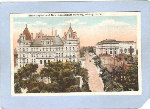 New York Albany State Capitol & New Educational Building Street View w/Tro~454