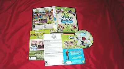 The Sims 3 OUTDOOR LIVING PC & MAC DISC MANUAL ART & CASE NRMNT TO MINT
