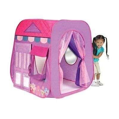Preschool Kids Toddler Girls Portable Pop Up Folding Play House Hut Tent Toys