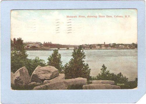 New York Cohoes Mohawk River Showing State Dam ny_box2~312