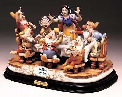 Disney Snow White & the 7 Dwarfs Dinner Laurenz Capodimonte C.O.A. Original Box