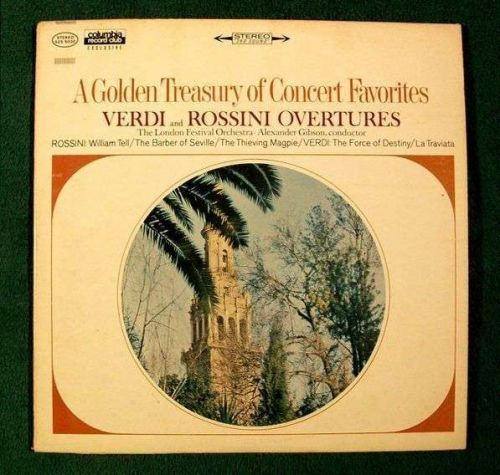 "VERDI and ROSSINI / GILBERT & SULLIVAN ~ "" Overtures "" Double Classical LP"