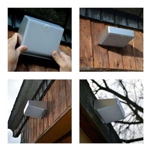 Solar Deck Patio Cool White Bright Light Garden Pathway Landscape Security NIB