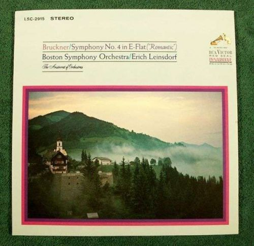 "BRUCKNER / Symphony No. 4 in E-Flat (""Romantic"") ~ Leinsdorf Classical LP"