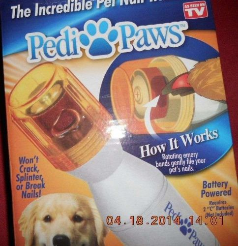 INCREDIBLE PET NAIL TRIMMER PEDI PAWS. A MUST FOR PET OWNER. NEW IN FACTORY BOX.