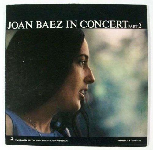 "JOAN BAEZ ~ "" Joan Baez In Concert / Part 2 "" 1963 Folk/Pop LP"