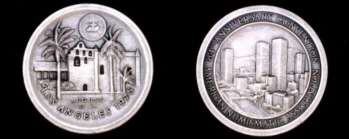 1975 American Numismatic Association 84th Convention 29.8g Silver - Los Angeles