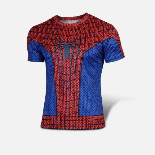 Spider-man T Shirt Super Hero Short-Sleeve Costume Peter Parker Marvel HQ