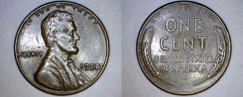 1958-P Abraham Lincoln Wheat Penny