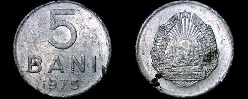 1975 Romanian 5 Bani World Coin - Romania